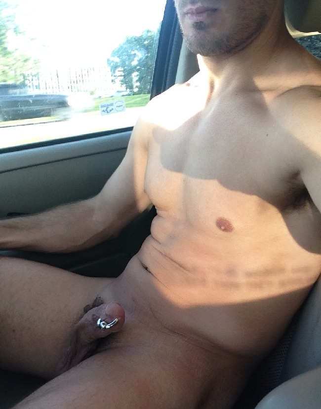 Nude Man In Car