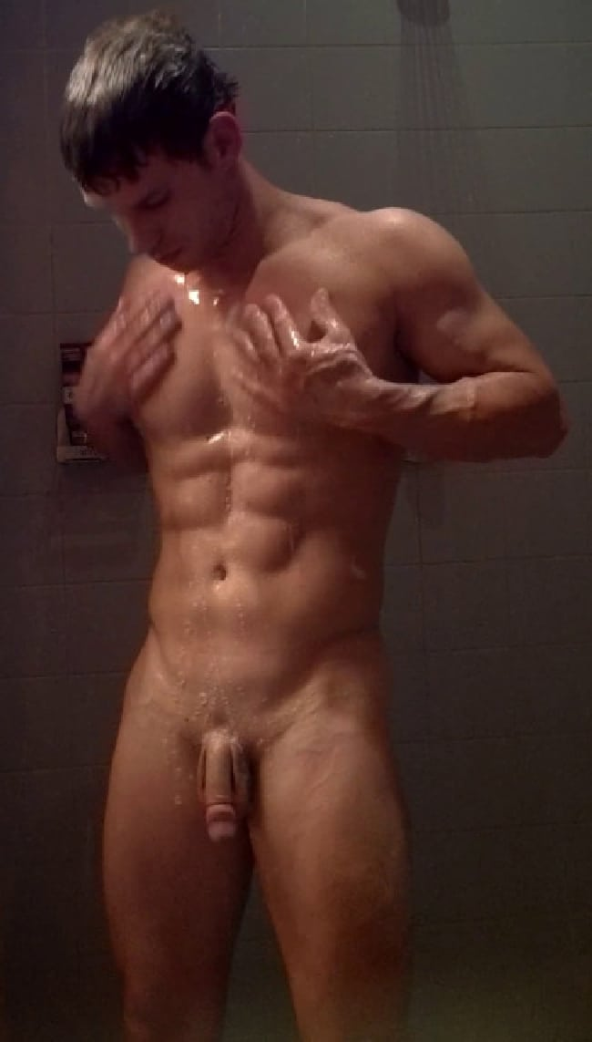 Sexy naked men in the shower